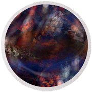 Creation From Chaos Round Beach Towel