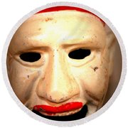Round Beach Towel featuring the photograph Creepy Clown by Lynn Sprowl