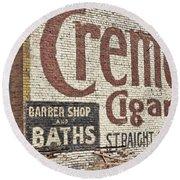 Cremo Cigar Round Beach Towel by Cathy Anderson