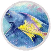 Creole Wrasse Round Beach Towel