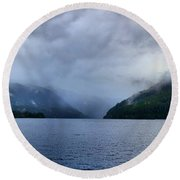Crescent Lake Round Beach Towel