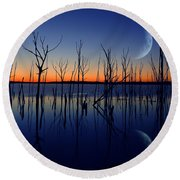 The Crescent Moon Round Beach Towel