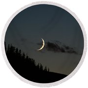 Round Beach Towel featuring the photograph Crescent Silhouette by Jeremy Rhoades
