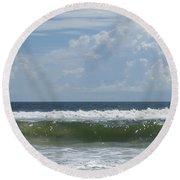 Cresting Wave Round Beach Towel