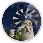 Creton Windmills Round Beach Towel