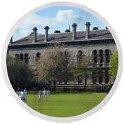 Cricket Match On College Park,with Round Beach Towel
