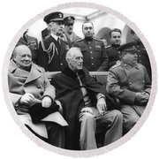 Crimean Conference In Yalta Round Beach Towel