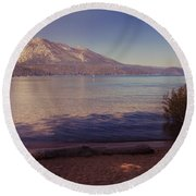 Crisp And Clear Round Beach Towel