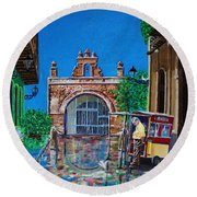 Round Beach Towel featuring the photograph Capilla De Cristo - Old San Juan by The Art of Alice Terrill