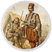 Croatian Guards, 1865 Round Beach Towel
