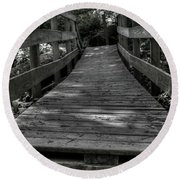 Crooked Bridge Round Beach Towel