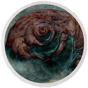 Round Beach Towel featuring the photograph Crooked House by WB Johnston