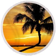 Crooked Palm Round Beach Towel