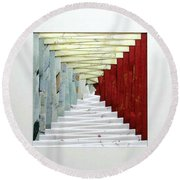 Crooked Staircase Round Beach Towel by Ron Davidson