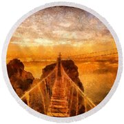 Cross That Bridge Round Beach Towel