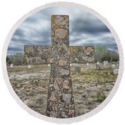 Cross With No Name Round Beach Towel by Erika Weber