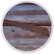 Crosscut Saw Round Beach Towel
