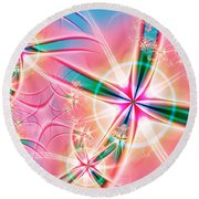 Crosses Round Beach Towel by Lena Auxier