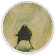 Crow 6 Round Beach Towel