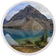 Crowfoot Mountain Banff Np Round Beach Towel