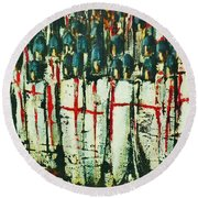 Crusade Shields 4. Round Beach Towel