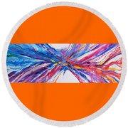 Crux Round Beach Towel by Expressionistart studio Priscilla Batzell