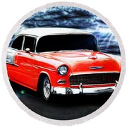 Vehicles Round Beach Towel featuring the photograph Cruze'n  by Aaron Berg