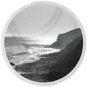 Crystal Cove I Round Beach Towel