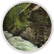 Crystal Mill Round Beach Towel by Priscilla Burgers