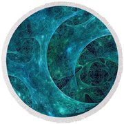 Crystal Nebula-ii Round Beach Towel