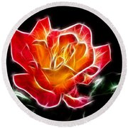 Round Beach Towel featuring the photograph Crystal Rose by Mariola Bitner
