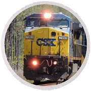 Csx 7363 Round Beach Towel by Kim Pate