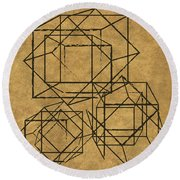 Cubed I Round Beach Towel by South Social Studio
