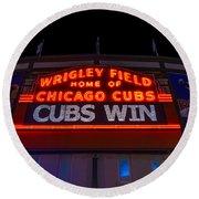 Cubs Win Round Beach Towel