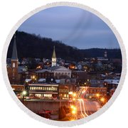 Cumberland At Night Round Beach Towel by Jeannette Hunt