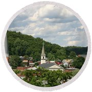 Cumberland Steeples Round Beach Towel by Jeannette Hunt