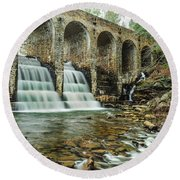 Cumberland Waterfall Round Beach Towel by Debbie Green