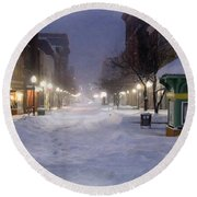 Cumberland Winter Round Beach Towel