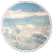 Cumulus Clouds Round Beach Towel