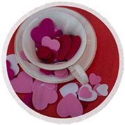 Cup Full Of Love Round Beach Towel by Patrice Zinck