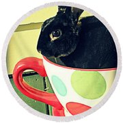 Cup O' Rabbit Round Beach Towel