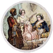 Cup Of Coffee, 1858 Round Beach Towel