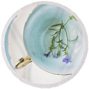 Round Beach Towel featuring the photograph Cup Of Three by Amy Weiss