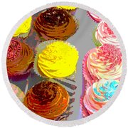 Cupcake Suite Round Beach Towel by Beth Saffer