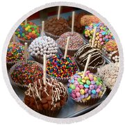 Cupcakes Galore Round Beach Towel