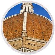 Cupola On Florence Duomo Round Beach Towel