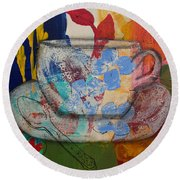 Cuppa Luv Round Beach Towel