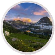 Curious Goat Round Beach Towel by Dustin  LeFevre