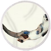 Curious Otter Round Beach Towel