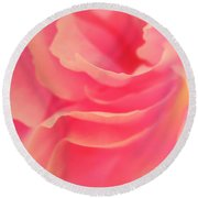Curling Blossom Round Beach Towel